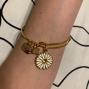 Alex and Ani Gold Daisy Bangle Bracelet